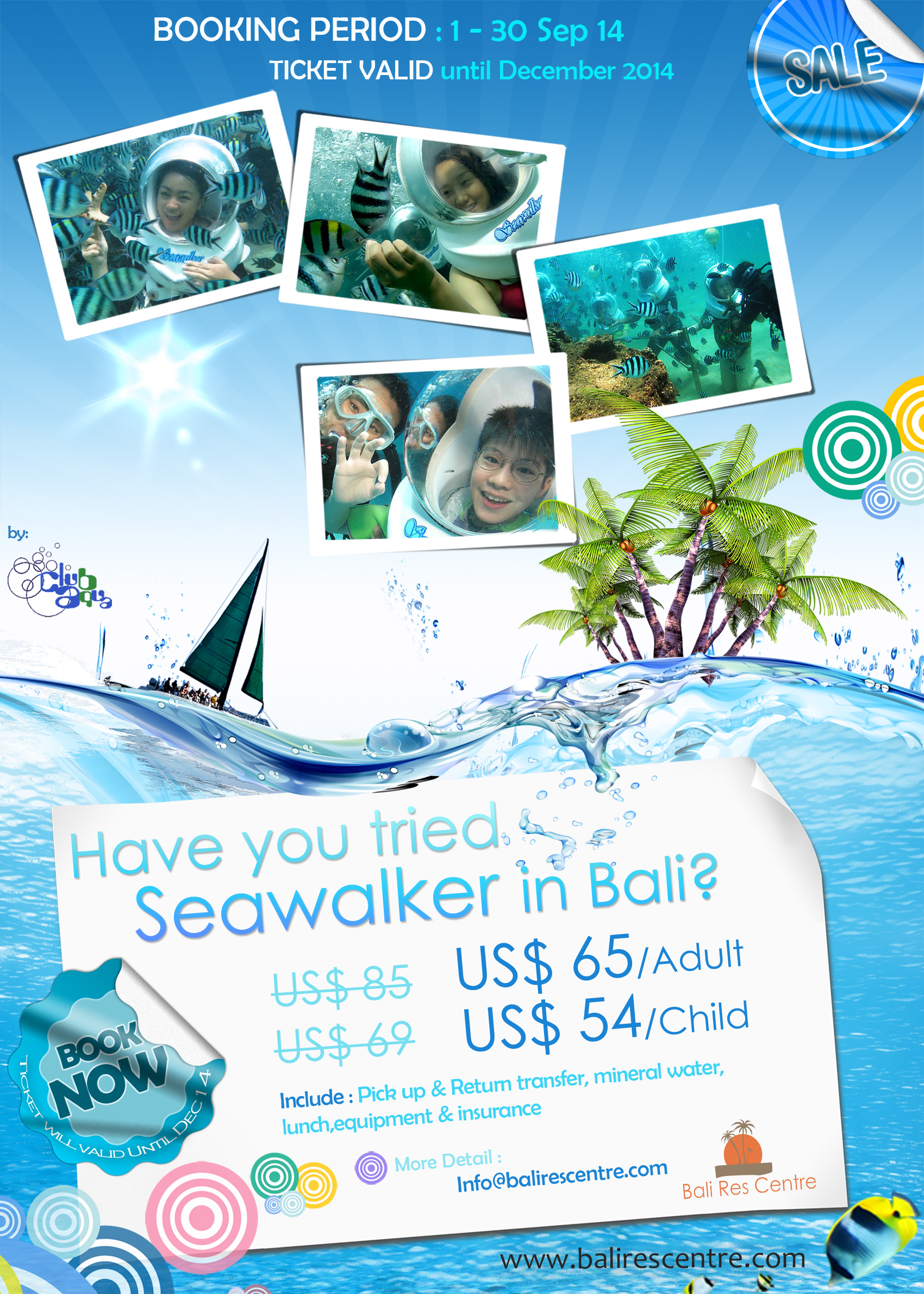Sea Walker Bali Promo 1-30 Sept 2014
