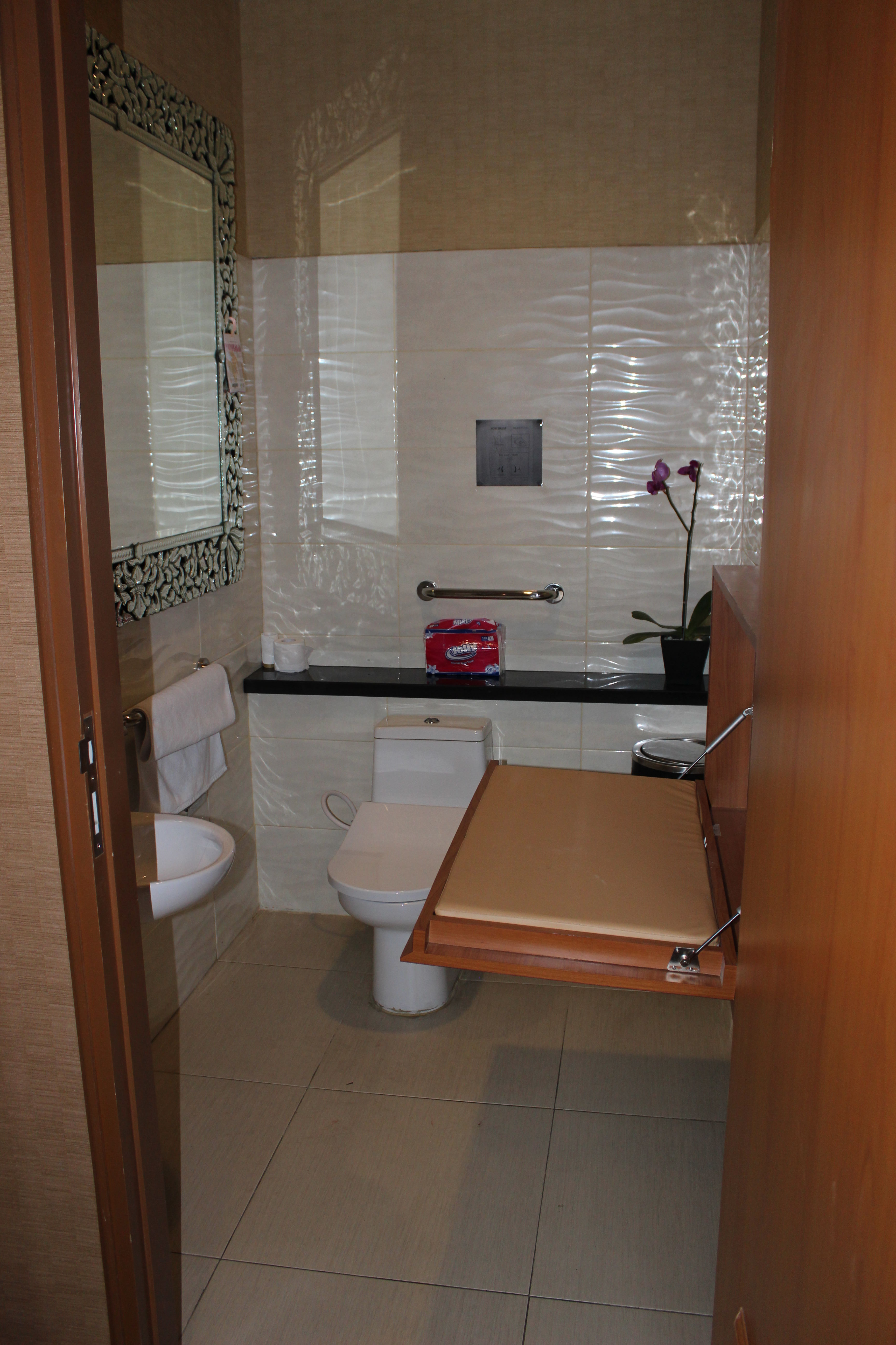 Bali Res Centre toilet for handicap & baby changing room - Bali Res ...